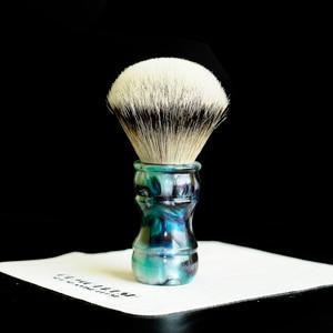 Image 4 - OUMO PINSEL Terrakotta krieger rasieren pinsel mit SHD HMW silberspitz dachs knoten gel stadt 26MM28MM