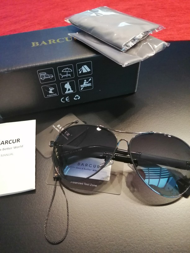 <strong>BARCUR Titanium</strong> - Mirror Shades & Gradient  Polarized Sunglasses For Men photo review
