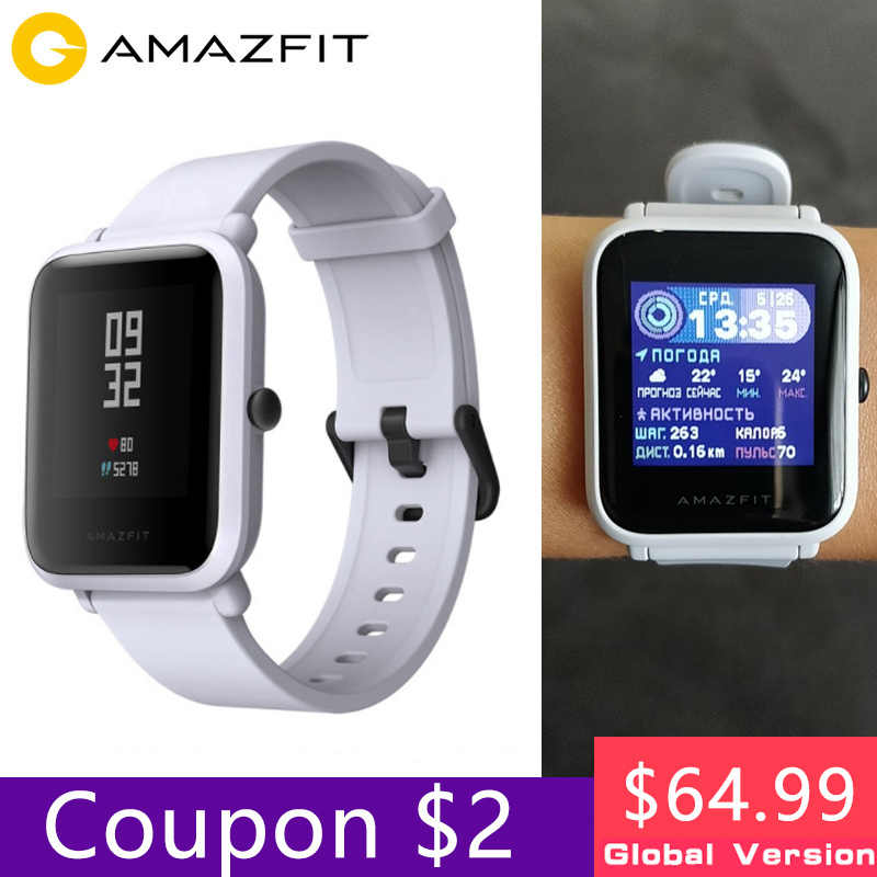 Xiaomi huami Amazfit bip2 Smart Watch Men Women Huami Amzfit bip Lite SmartWatch Bluetooth Heart Rate 45 Days Standby GPS pk GTS