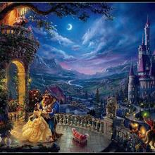 Dancing in the Moonlight - Counted Cross Stitch Kits - DMC Color DIY Handmade Needlework for Embroidery 14 ct Cross Stitch Sets