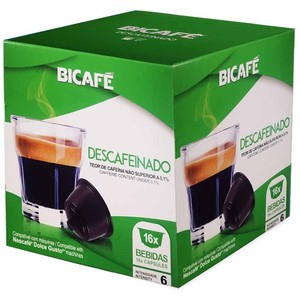 Decaffeinated bicafe, 16 compatible capsules Dolce Gusto