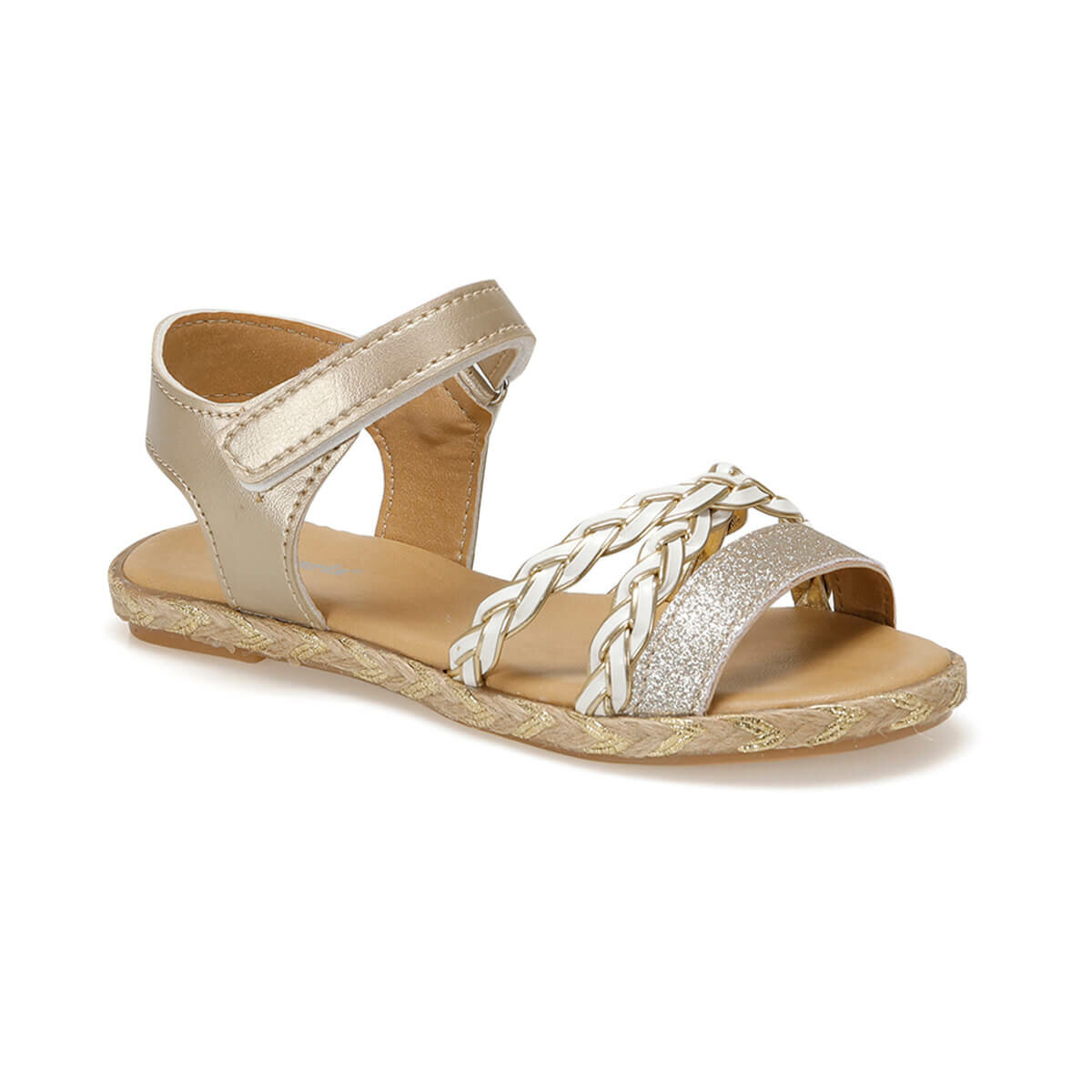 FLO 91.511483.F Gold Female Child Sandals Polaris