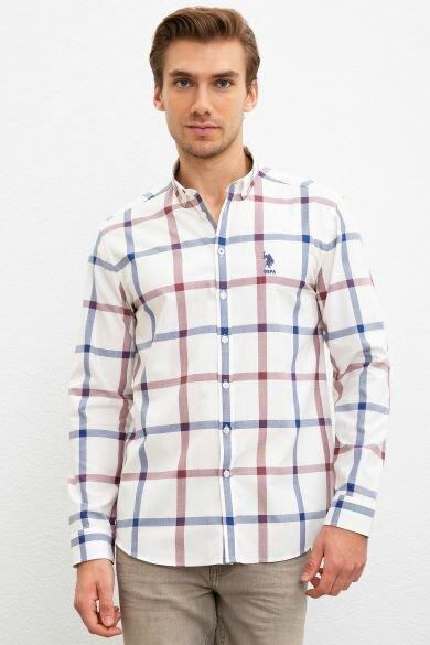 U.S. POLO ASSN. White Square Regular Shirt