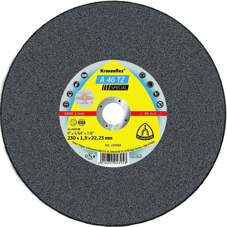 Circle Cutting KLINGSPOR 230х1. 9х22 Kronenflex A 46 TZ SPECIAL
