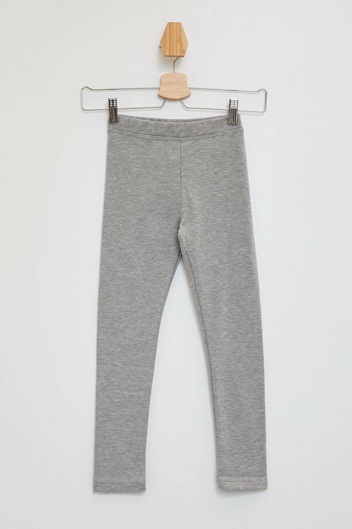 DeFacto Girl Leggings Kids Solid Color Leggings Casual Elastic Legging Pants For Girls Spring Autumn-M4227A619AU