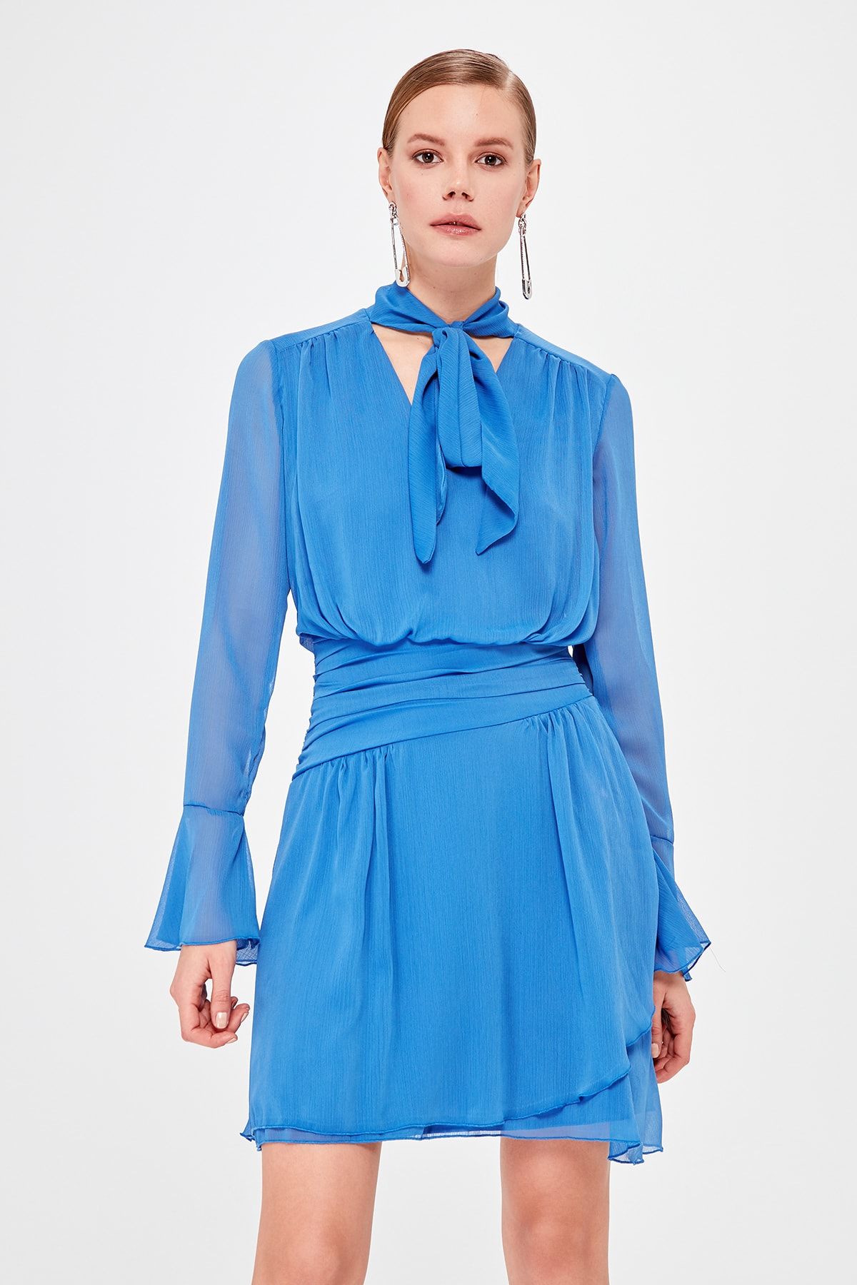 Trendyol Collar Detail Dress TPRSS20EL0016