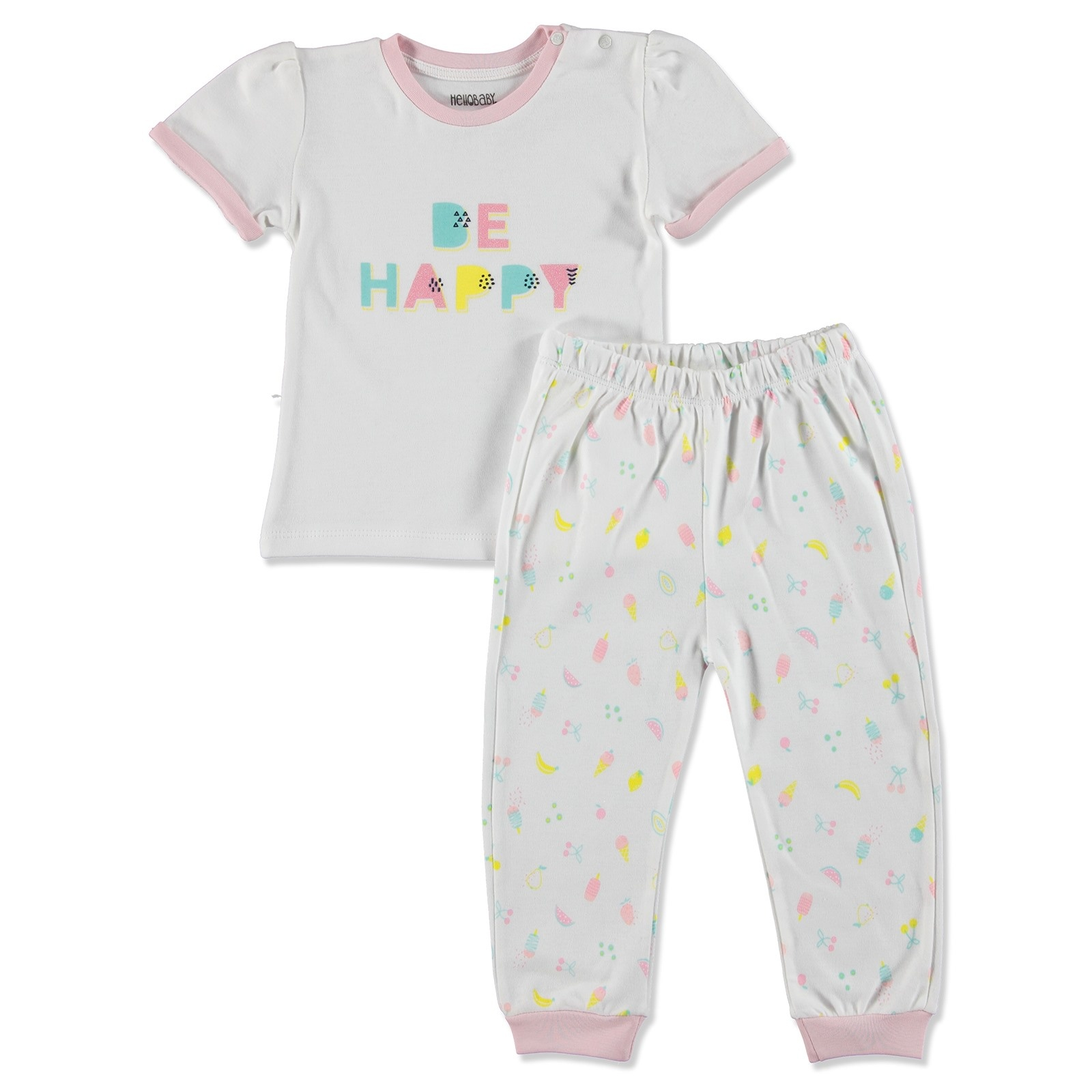 Ebebek HelloBaby Summer Baby Sweet Fruits Pyjamas Set