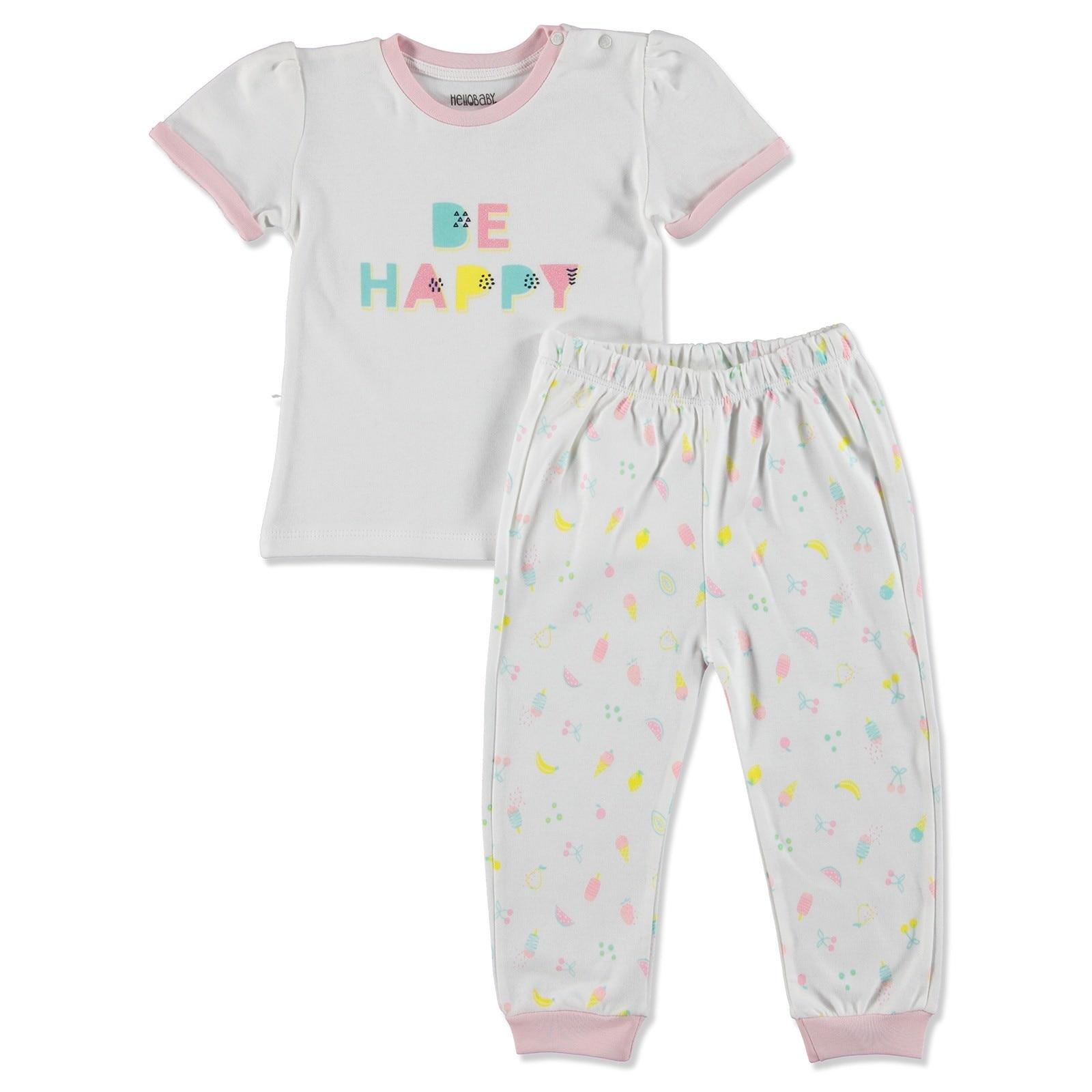 Ebebek HelloBaby Summer Baby Sweet Fruits Pyjamas Set