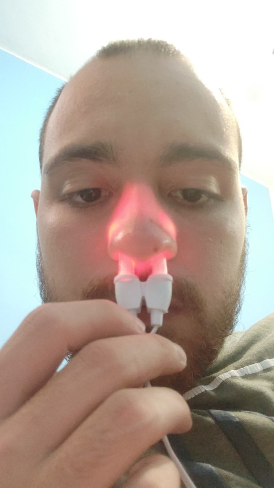 Dropshipping 1 PC Nose Care Rhinitis Sinusitis Cure Therapy Massage Hay Fever Low Frequency Pulse Laser Nose Health Care Machine