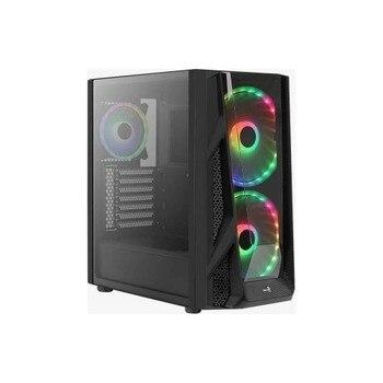 Aerocool NightHawk Duo 2388ARGB 2x20 cm 1x12 cm Fan Computer Case (AE-NGHTHWKD) 1