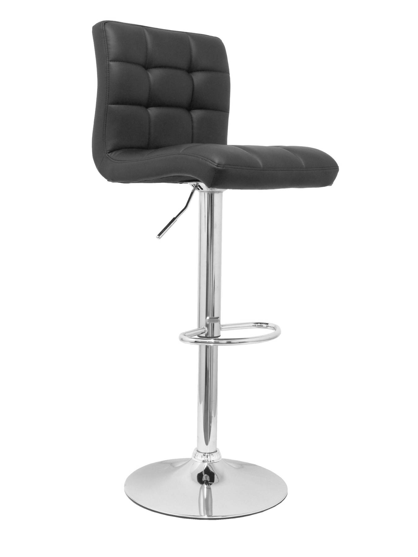 Pack 2 Pub Barstools, Swivel And Dimmable In High Altitude Using Cylinder Gas (include Hoop Foot Pegs Chrome)-