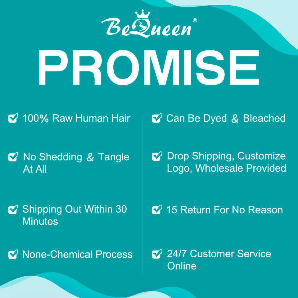BeQueen Water Wave Korte Menselijk Haar Pruiken Menselijk Haar Kant Pruik Maleisische Haar Bob Pruik Voor Zwarte Vrouwen