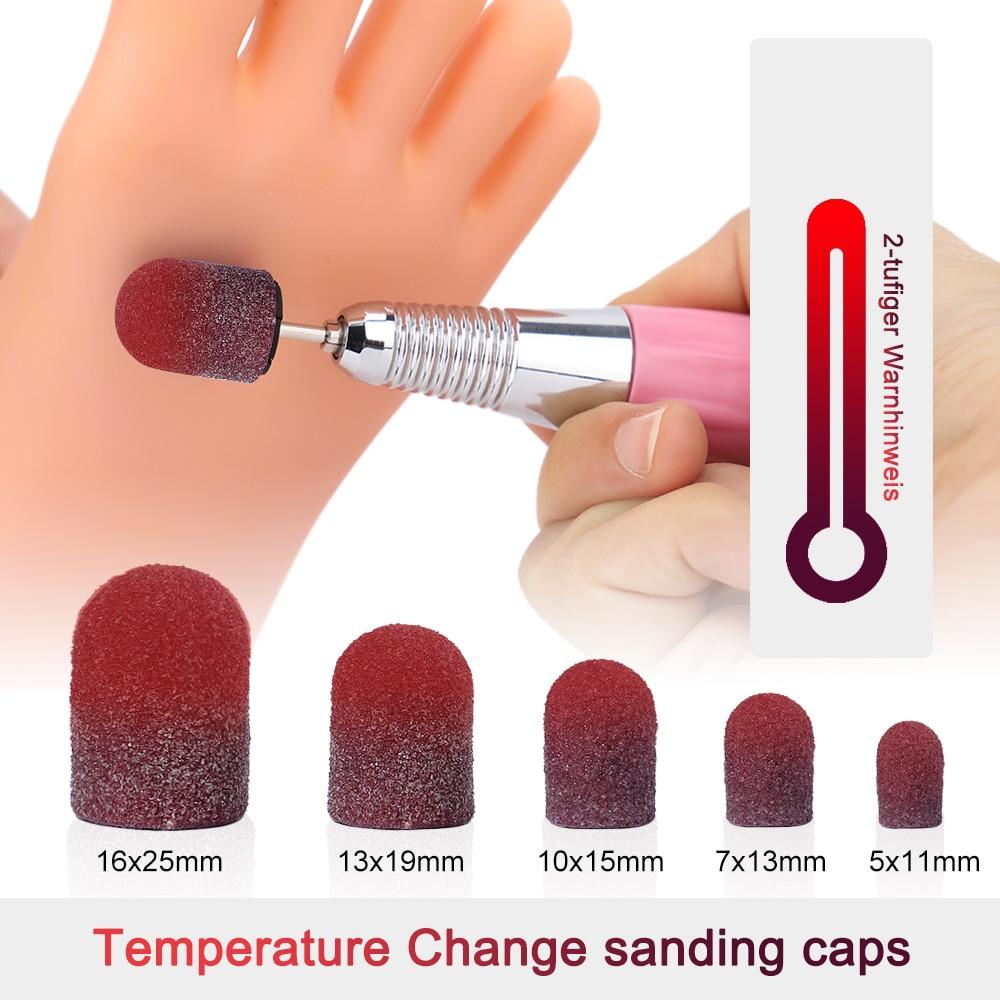 BNG 4 TYPES Diamond Drill Bit Rotary Burr Foot Cuticle Clean Manicure Pedicure Tools Drill Accessories Nail Mills Umbrella 5