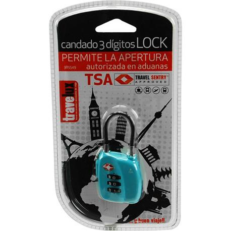 <font><b>Padlock</b></font> 3 Digit Suitcases <font><b>Tsa</b></font> Customs Ok image