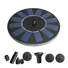 цена на 6V Solar Fountain Watering kit Power Solar Pump Pool Pond Submersible Waterfall Floating Solar Panel Water Fountain For Garden