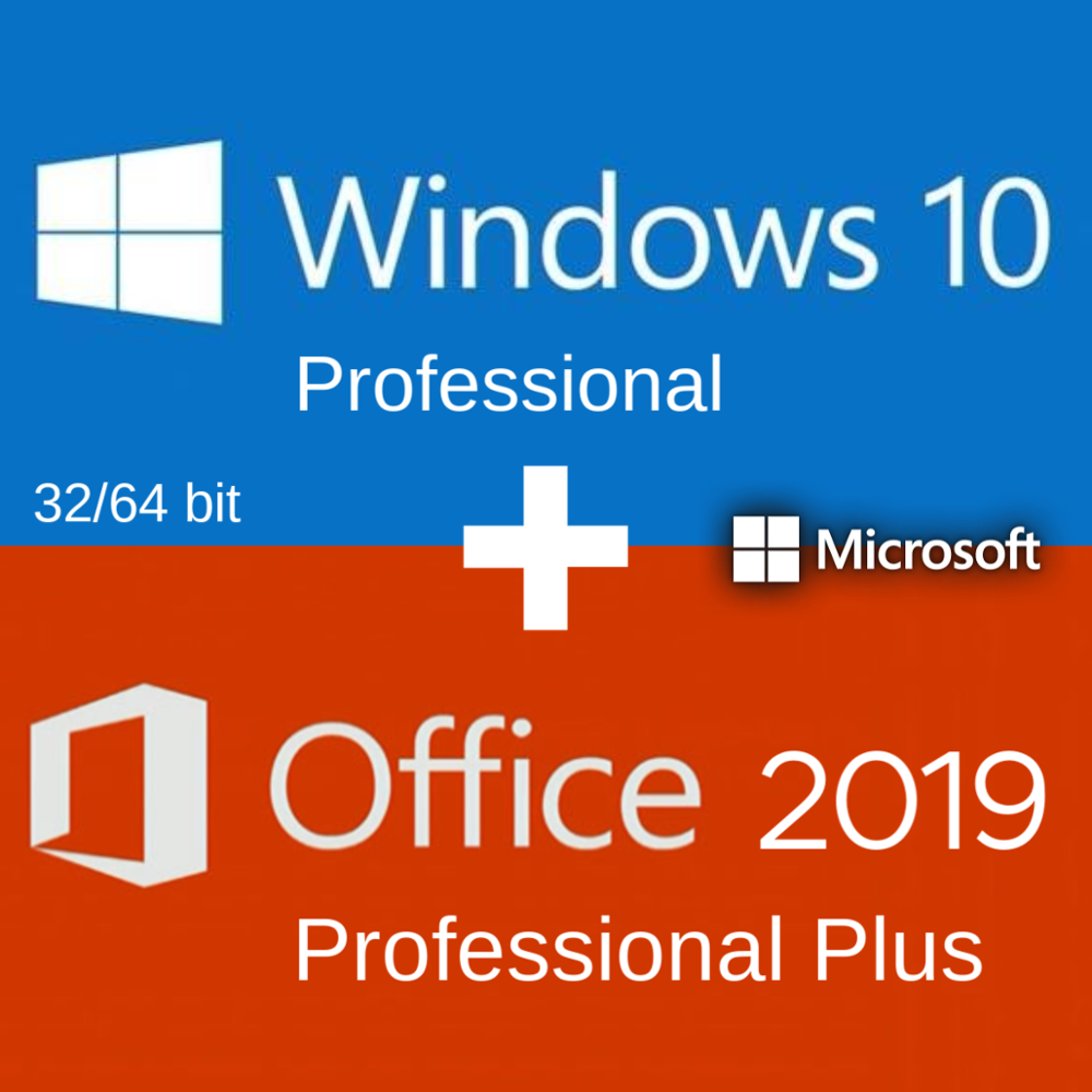Windows 10 Pro Professionele + Office 2019 Pro Plus 2019 Activering Code Sleutel Meertalige