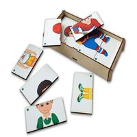 Puzzles PAREMO Game set \Compound pictures. Спорт 2\ wooden toys game for boys and girls for children learning fine motor skills puzzle children's educational basic Montessori skills Sorter