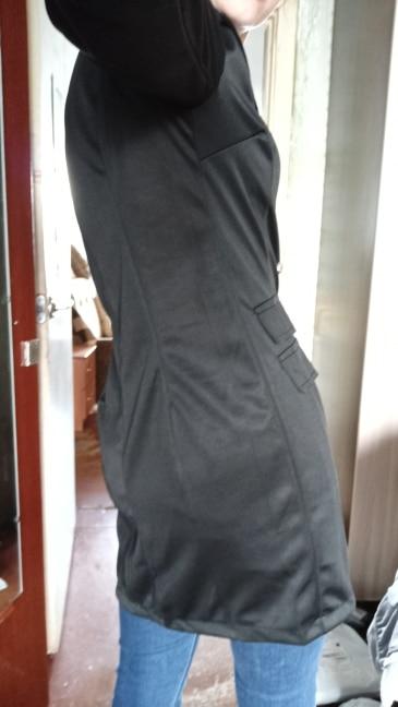 Women Black Blazer Office Formal Long Sleeve Coat New Long Autumn Double-breasted Slim Sexy Ladies Office Wear Coat Outwear 2019 reviews №3 16163