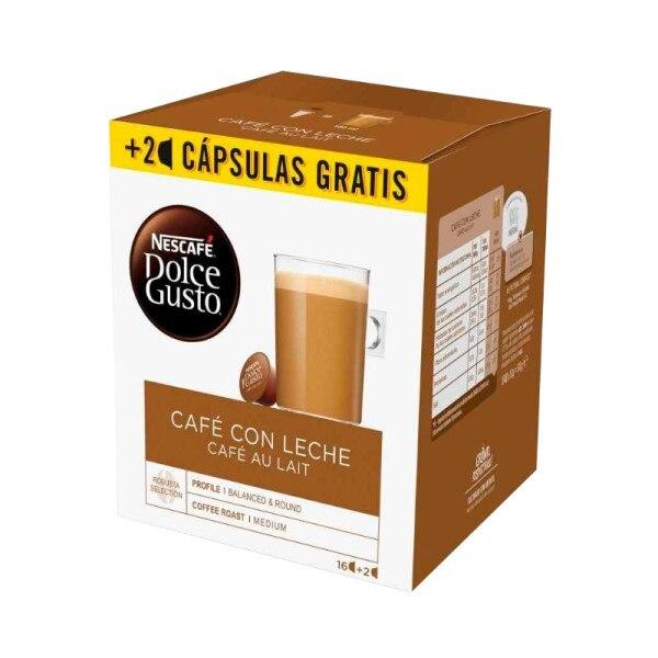 Coffee Capsules Nescafé Dolce Gusto Cafe Au Lait (18 Uds)