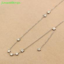 Звезда ожерелье женщин Колье Золото луна ожерелье s подвеска в области ключицы цепи ожерелье де мода ювелирные изделия