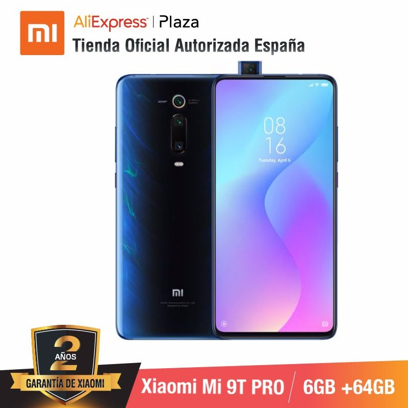 Global Version For Spain] Xiaomi Mi 9T PRO (Memoria Interna De 64GB, RAM De 6GB, Triple Cámara De 48 MP Con IA)