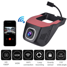 New Hidden Car Dash Camera DVR Wifi Dash Cam 1080P Full HD Front Car Camera Recorder Auto Video Registrar With 8/16/32GB TF Card недорого