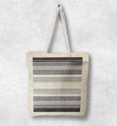 Else серая черная бежевая Геометрическая Новая модная белая парусиновая сумка с веревочной ручкой хлопковая парусиновая сумка на молнии сум...