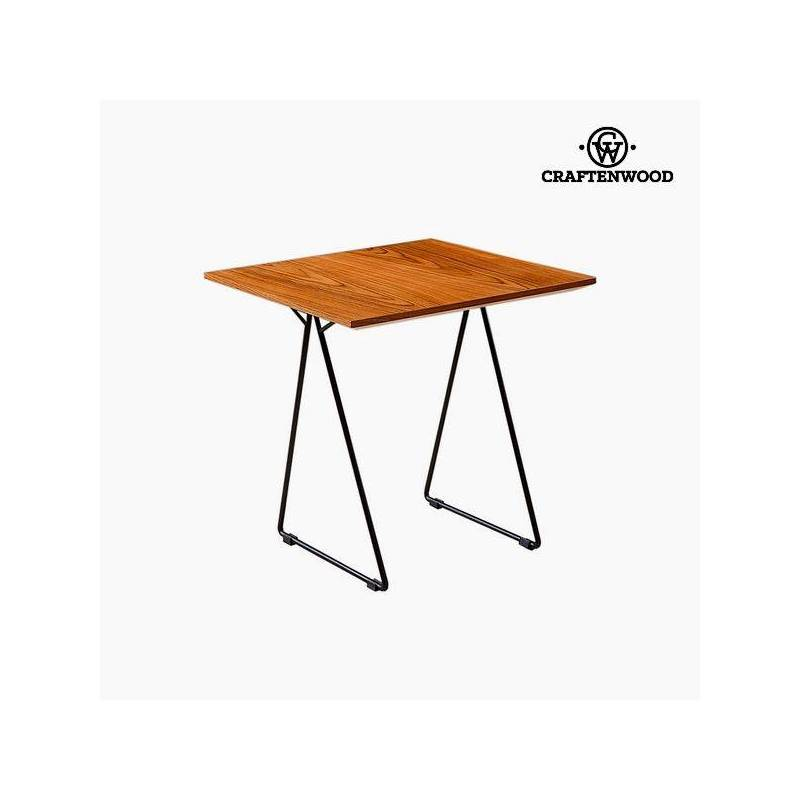 Side Table Walnut Mdf (55x55x55 Cm) By Craftenwood