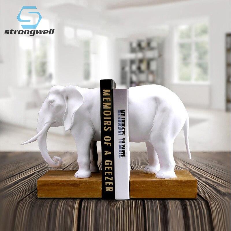 Ev ve Bahçe'ten Statü ve Heykelleri'de Ev Dekorasyon Aksesuarları Bookend Reçine Hayvan Fil Heykelcikleri Fil Bookend Modeli Minyatür Yaratıcılık El Işi Klasik'da  Grup 1