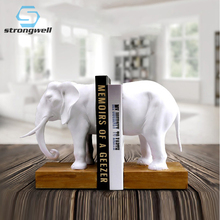 Home Decoration Accessories Bookend Resin Animal Elephant Figurines Model Miniature Creativity Handwork Classic