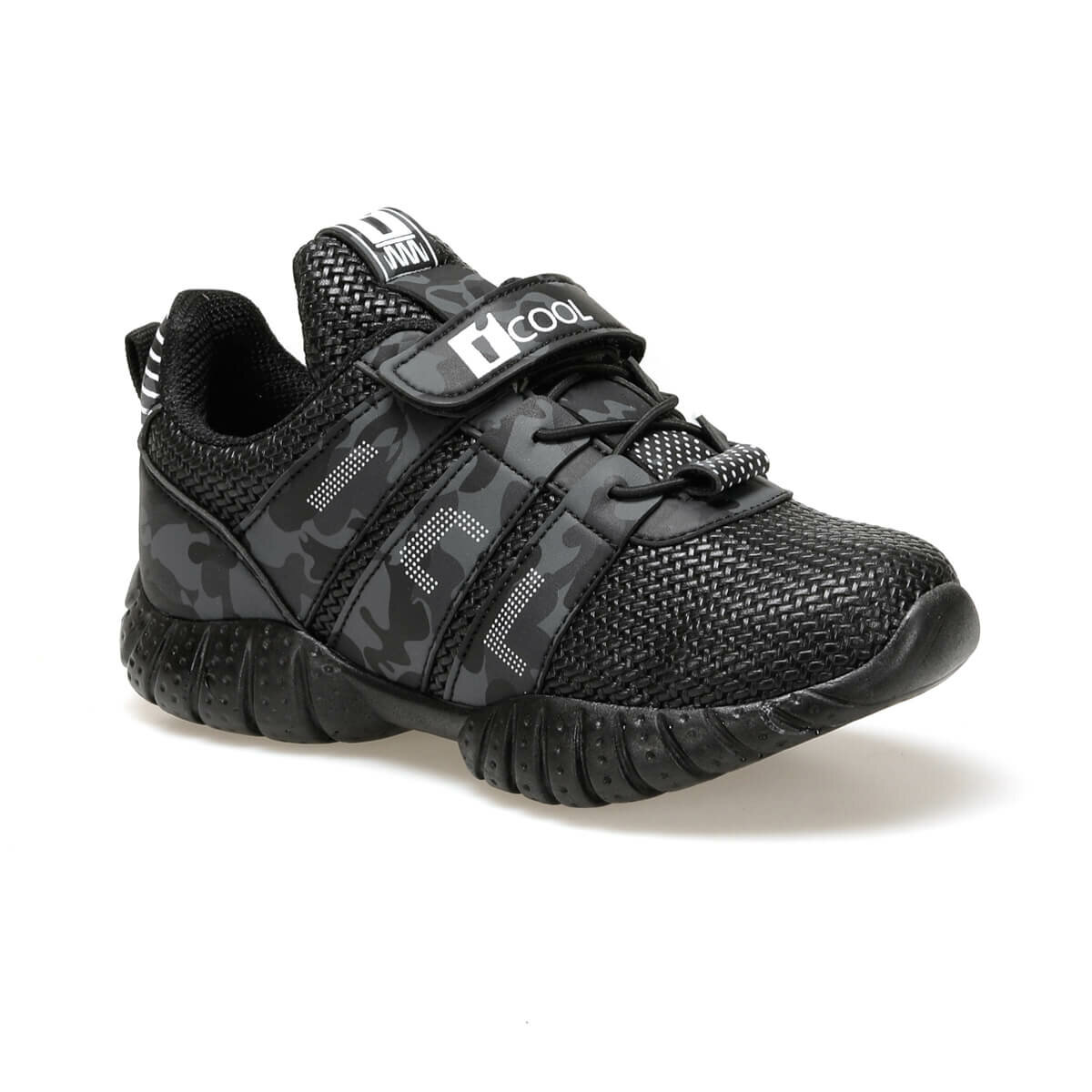 FLO TREE Black Male Child Hiking Shoes I-Cool