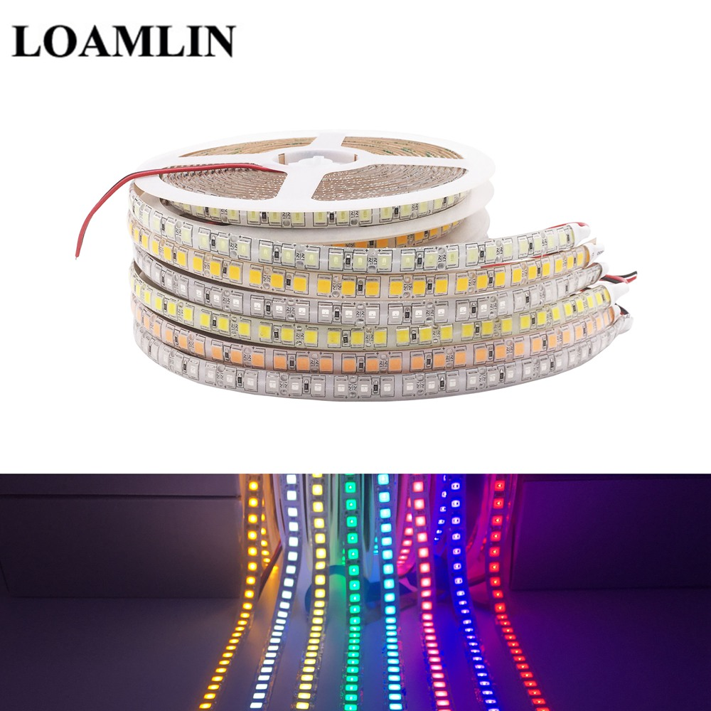 Super Bright Led Strip SMD5054 Lights Waterproof Flexible Tape Ribbon Lamp DC12V 120Leds/m