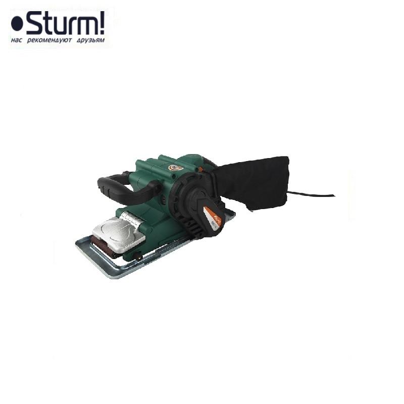 лучшая цена BS8511U Sturm belt grinder, 1100 W, 76x533 mm Polishes wooden, metal surfaces Helps to remove old paint, varnish