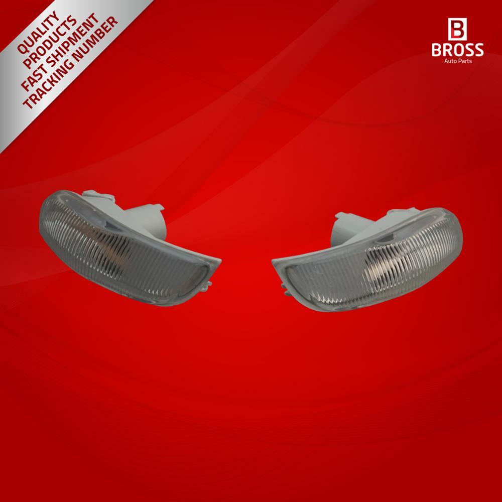 Bross bsp626 espelho lateral indicador de lente direita e esquerda 261653175r, 261600977r para o símbolo mk3, logan mk2, sandero mk2