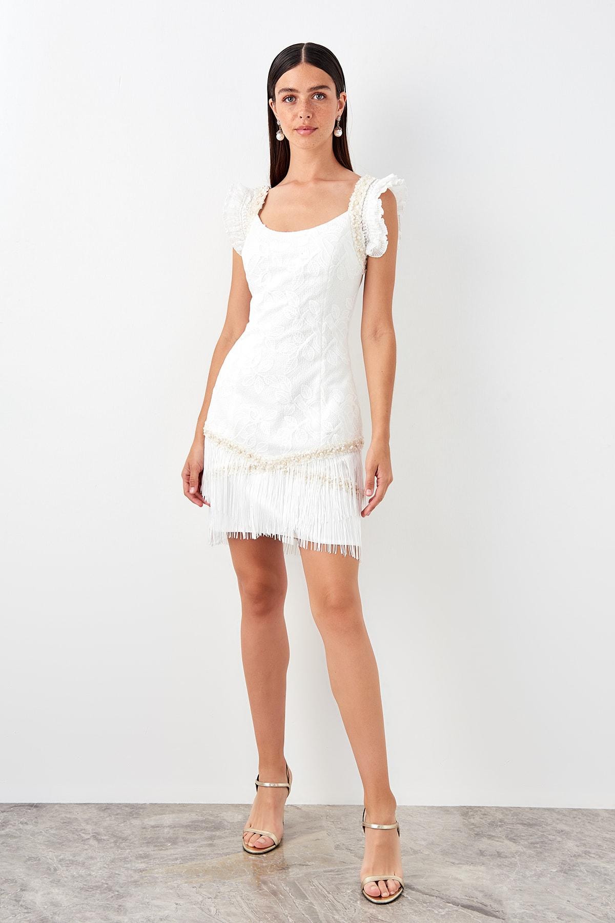 Trendyol Accessorized With Tassels Dress TPRSS19EL0298