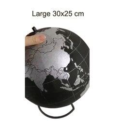 Silber Kork Holz Tellurion Silber Globen Marmor Karten Home Büro Dekoration Welt Karte Aufblasbare Ausbildung Geographie Karte Ballon