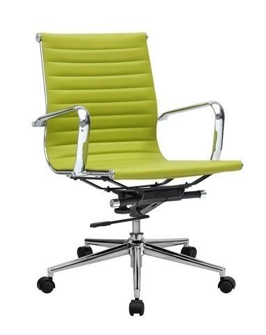 Office Armchair PHILIP, Rotatable, Gas, Tilt, Similpiel Green