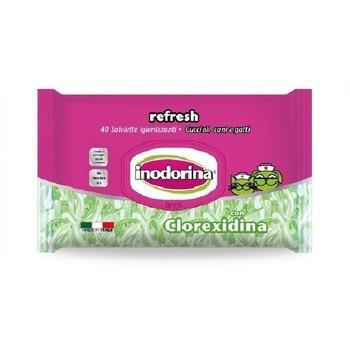 INODORINA REFRESH 40 Toallitas Limpiadoras para Mascotas con Fragancia a Clorexidina
