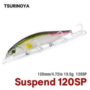 Tsurinoya suspender minnow isca dw51 120mm 19.5g longo fundição crankbait lápis wobblers sea bass pike isca de pesca isca dura