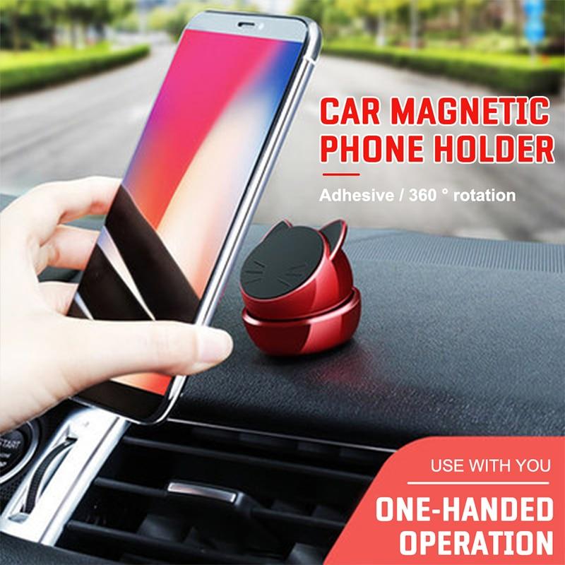 Useful Navigation Bracket 360° Rotation Lucky Cat Magnetic Holder Fashion Paste|Universal Car Bracket|Automobiles & Motorcycles - title=