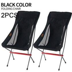 2 개/몫 Ultralight 휴대용 접는 의자 야외 캠핑 낚시 의자 홈 피크닉 의자 바베큐 Foldable 좌석 도구