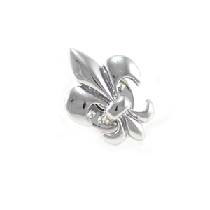 Novelty Silver Tone Fleur De Lis Flower Lapel Pin Holiday Gifts Pins Birthday Gift Lapel Pins