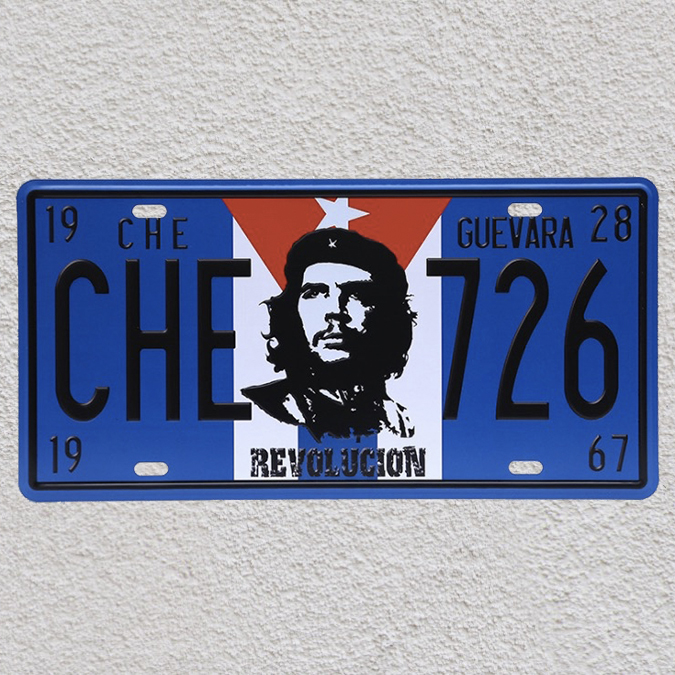 1 pc Cuba Che Guevara revolution revel flag Havana Tin Plates Signs garage wall man cave Decoration Metal Art Vintage Poster in Plaques Signs from Home Garden