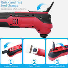 TACKLIFE Electric Cutting Saw Polishing Grinding Opening Slotted Shovel Multi-Function Machine For Furniture Woodworking