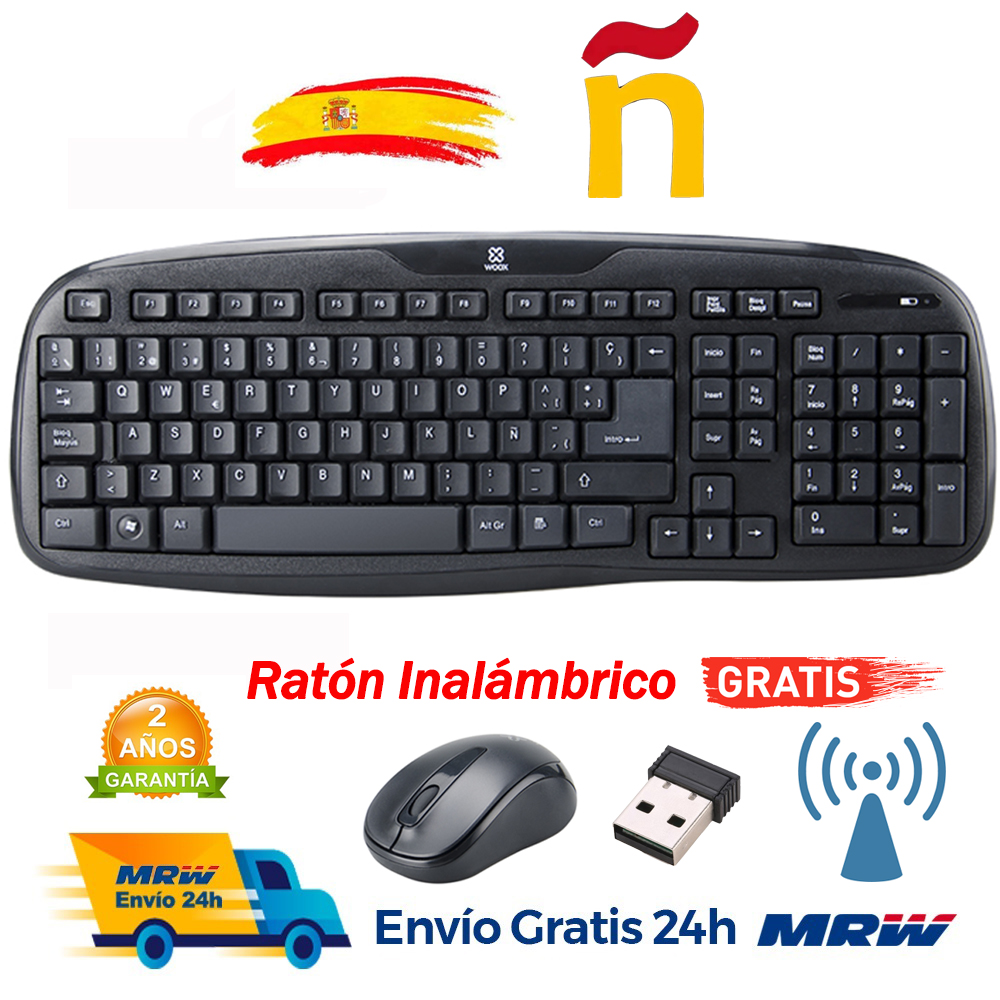 Wireless Keyboard + Mouse Combo Black 2.4G