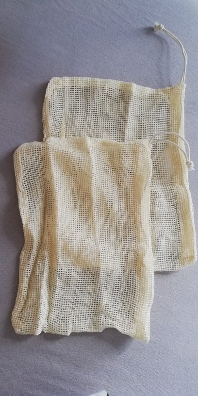 Different Size Cotton Mesh Vegetable Reusable Bag with Drawstring