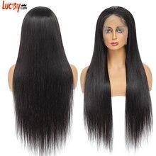 Perruque Lace Front Wig naturelle lisse et transparente HD, 13x4, naissance des cheveux naturelle, perruque Lace Front Wig, pre-plucked, pour femmes