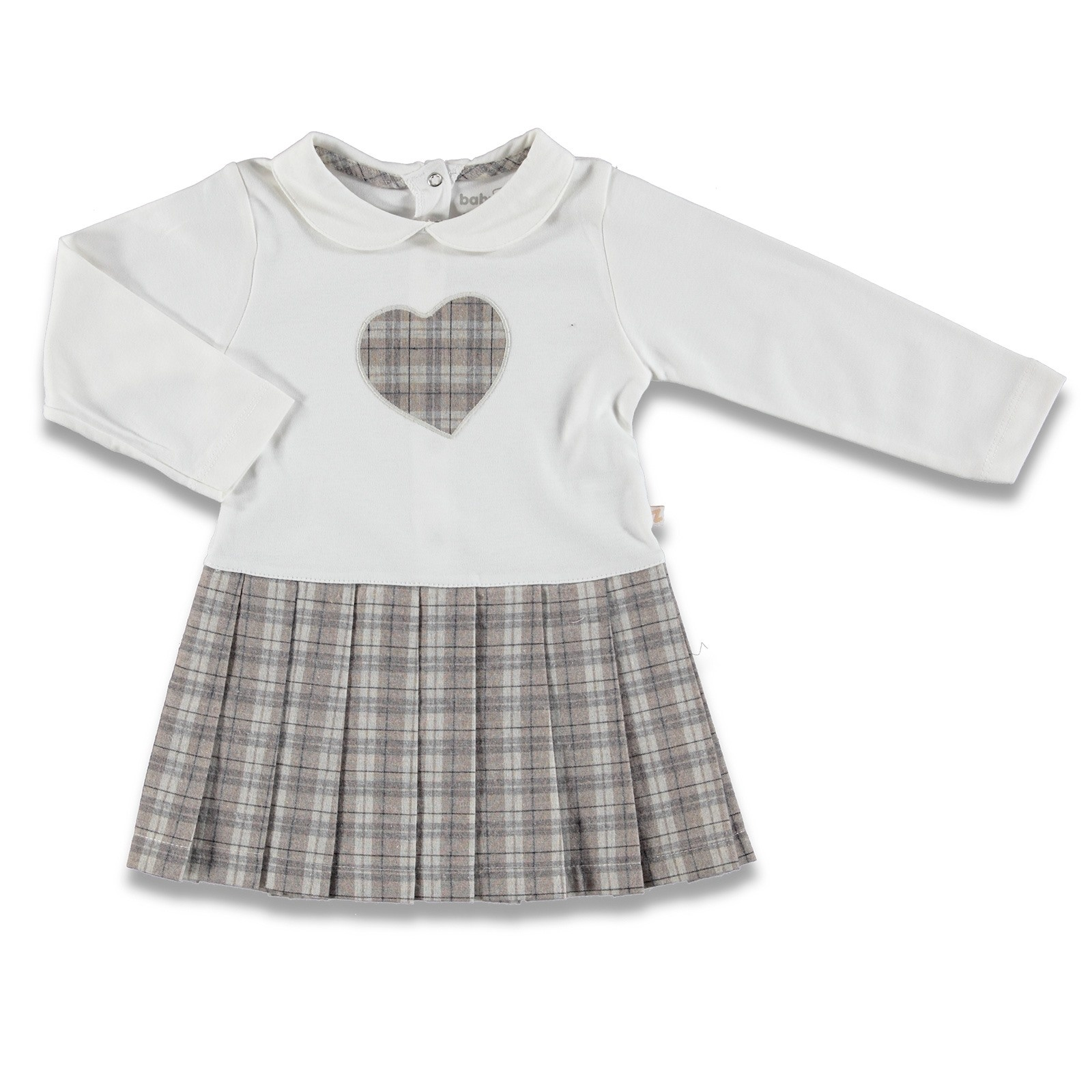 Ebebek BabyZ corazón bordado bebé niña vestido Ebebebek zapatos de bebé de primer paso