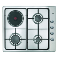 Fogão a gás teka e6033g1pal 60 cm 60 cm de aço inoxidável (3 fogões)|Cooktops|   -