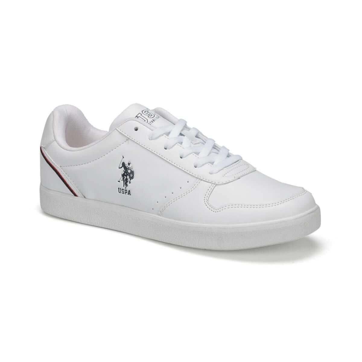 Ayakk.'ten Erkek Rahat Ayakkabılar'de FLO JACKSON 9PR Beyaz Erkek Sneaker Ayakkabı U.S. POLO ASSN. title=